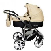 Baby-Sportive-Allivio-Sistema-de-viaje-3-en-1-silla-de-paseo-carrito-con-capazo-y-silla-de-coche-RUEDAS-GIRATORIAS-y-accesorios-color-crema-0-0