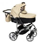 Baby-Sportive-Allivio-Sistema-de-viaje-3-en-1-silla-de-paseo-carrito-con-capazo-y-silla-de-coche-RUEDAS-GIRATORIAS-y-accesorios-color-crema-0-2