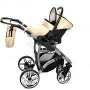 Baby-Sportive-Allivio-Sistema-de-viaje-3-en-1-silla-de-paseo-carrito-con-capazo-y-silla-de-coche-RUEDAS-GIRATORIAS-y-accesorios-color-crema-0-3