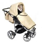 Baby-Sportive-Allivio-Sistema-de-viaje-3-en-1-silla-de-paseo-carrito-con-capazo-y-silla-de-coche-RUEDAS-GIRATORIAS-y-accesorios-color-crema-0-4