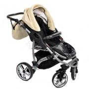 Baby-Sportive-Allivio-Sistema-de-viaje-3-en-1-silla-de-paseo-carrito-con-capazo-y-silla-de-coche-RUEDAS-GIRATORIAS-y-accesorios-color-crema-0-5