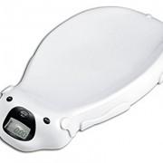 Balanza-electrnica-para-bebs-de-color-blanco-con-opcin-musical-y-memoria-integrada-0-1
