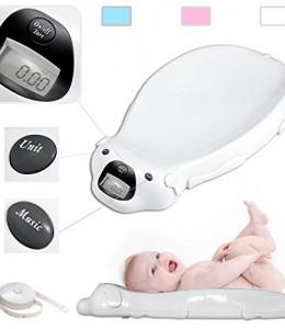 Balanza-electrnica-para-bebs-de-color-Blanco-con-opcin-musical-y-Memoria-Integrada-0