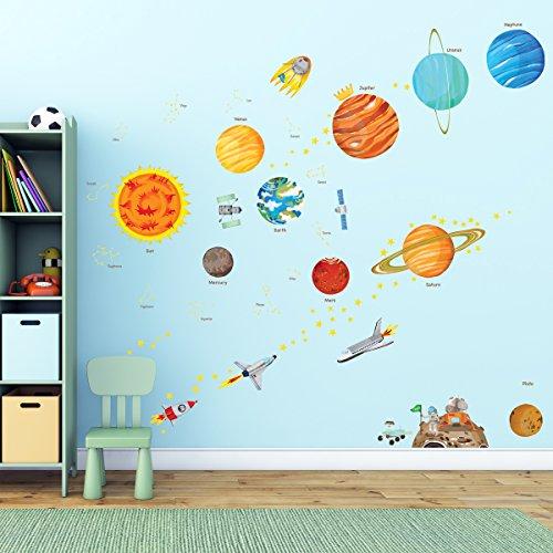 pegatinas sistema solar u habitacin del beb