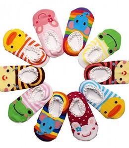 Happy-Cherry-Pack-de-10-pares-Calcetines-Zapatos-Antideslizantes-para-bebs-nios-nias-1-3-aos-14cm-0