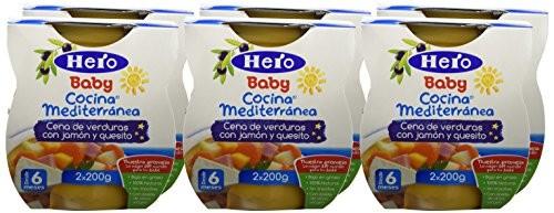 Hero-Baby-Cocina-Mediterrnea-Cena-De-Verduras-Con-Jamn-Y-Quesito-pack-de-6-0
