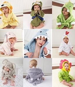 URAQT-Beb-Albornoz-Algodn-Pijamas-Con-Capucha-De-Bao-de-Mangas-Largas-con-Patrn-Animale-0