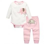 Vine-bebes-ropa-para-bebs-nacido-Romper-ropa-mueca-largos-ropa-de-nio-de-la-manga-Bodypantalones-elefante-1-0