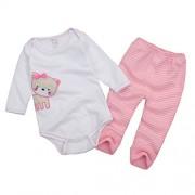 Vine-bebes-ropa-para-bebs-nacido-Romper-ropa-mueca-largos-ropa-de-nio-de-la-manga-Bodypantalones-gato-0