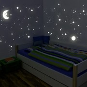 Wandkings-Adhesivos-de-pared-luminosos-fluorescentes-y-brillantes-en-la-oscuridad-Sol-luna-y-estrellas-Juego-XL-114-adhesivos-en-2-hojas-A4-0