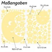 Wandkings-Adhesivos-de-pared-luminosos-fluorescentes-y-brillantes-en-la-oscuridad-Sol-luna-y-estrellas-Juego-XL-114-adhesivos-en-2-hojas-A4-0-2