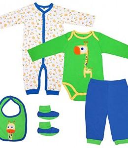 bebs-5-Sets-ropa-largos-ropa-de-nio-de-la-mangacalcetinesbaberosBodypantalones-Mameluco-recin-nacidos-Vine-0