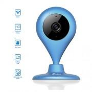 miSafes-Vigilabebs-Seguridad-Cmara-Interior-CMOS-WIFI-HD-120-ngulo-Amplio-Visin-Luz-Baja-con-Funda-Silicona-Azul-Marino-0-0