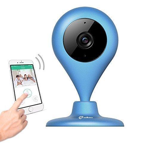 miSafes-Vigilabebs-Seguridad-Cmara-Interior-CMOS-WIFI-HD-120-ngulo-Amplio-Visin-Luz-Baja-con-Funda-Silicona-Azul-Marino-0
