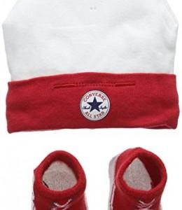 Converse-Hat-and-Bootie-Conjunto-de-Ropa-para-Bebs-Multicolor-Red-06-meses-escultura-o-fabricante-0M-6-0