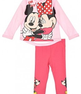 Mallas-y-camiseta-beb-nia-Minnie-y-Mickey-Rosa-y-gris-de-6-a-24-Meses-0