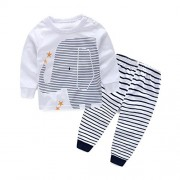 Malloom-Nios-ropa-ropa-de-beb-de-impresin-camiseta-Tops-raya-larga-pantalones-1-Set-0